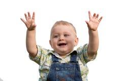 Cute little boy posing in the studio Royalty Free Stock Photo