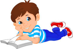 Free Cute Little Boy Reading Book Royalty Free Stock Image - 96622246