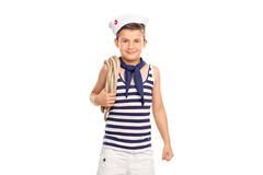 Cute little boy in a sailor outfit Royalty Free Stock Photos