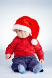 Cute little boy with santa hat Royalty Free Stock Photo