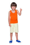 Cute little boy shows his thumb up Stock Image