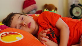 Cute little boy sleeping Royalty Free Stock Photography