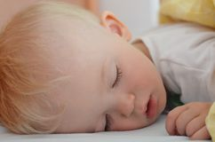 Cute little boy is sleeping Royalty Free Stock Photography