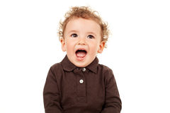 Cute little boy talking Stock Image