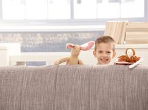 Cute little boy with toys Royalty Free Stock Image
