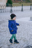 Cute little boy wearing fashion clothes Stock Image