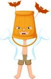 Cute little boy wearing a ghost costume Stock Photo