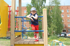 Cute little boy (3 years) outdoors in summer Royalty Free Stock Photography