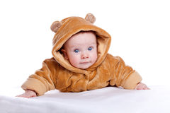 Cute little boyl with a warm coat Royalty Free Stock Images