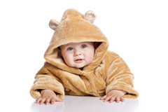 Cute little boyl with a warm coat Royalty Free Stock Photo