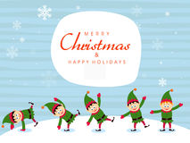 Cute little boys for Merry Christmas. Royalty Free Stock Image