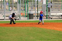 Cute little boys playing baseball, strike Royalty Free Stock Photo