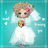 The cute little bride Royalty Free Stock Image
