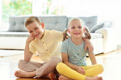 Cute little brother and sister having fun Stock Photography