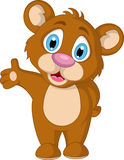 Cute little brown bear cartoon expression Stock Image