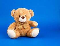 Free Cute Little Brown Teddy Bear, Copy Space Stock Photography - 169540062