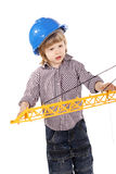 Cute little builder Royalty Free Stock Photos