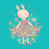 Cute Little Bunny Vector Illustration Stock Images