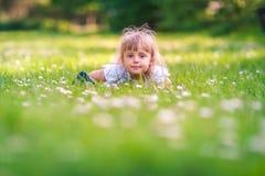 Cute little butterfly girl stock photo