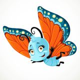 Cute little Butterfly with red and blue wings fly Stock Photography