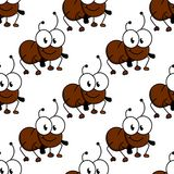 Cute little cartoon ant seamless pattern Royalty Free Stock Photography