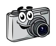 Cute little cartoon compact camera Stock Photos