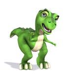 Cute Little Cartoon Dinosaur Stock Photo