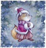 Cute little cartoon fox Royalty Free Stock Photos