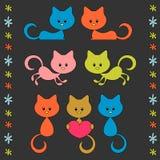 Cute little cartoon kittens Royalty Free Stock Image