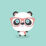 Cute little cartoon panda. Stock Photography