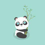 Cute little cartoon panda. Royalty Free Stock Photo
