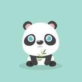 Cute little cartoon panda. Stock Image