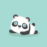 Cute little cartoon panda. Royalty Free Stock Images