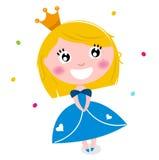 Cute little cartoon princess Stock Photos