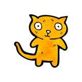 Cute little cat cartoon Stock Image