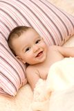 Cute little caucasian boy under the blanket Royalty Free Stock Photo