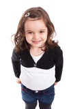 Cute little caucasian girl smiling Royalty Free Stock Photos