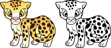 Cute little cheetah, design funny illustration Royalty Free Stock Photo