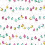 Cute little chicks. Seamless pattern Stock Photo