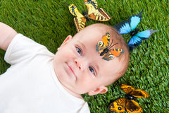 Cute Little Child Stock Photo