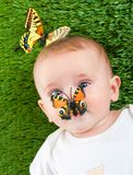 Cute little child stock images