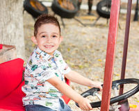 Cute little child boy in park on nature at summer. Use it for baby, parenting or love conce Royalty Free Stock Photo