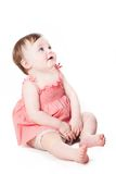 Cute little child looking up Stock Photo