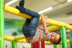 Cute little child playing royalty free stock photo