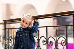 Cute little child in shopping mall Stock Images