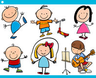 Cute little children cartoon set Stock Photo