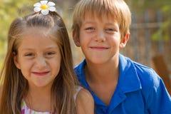 Cute little children friends Stock Photography