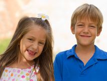 Cute little children friends Royalty Free Stock Image