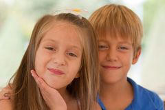 Cute little children friends Royalty Free Stock Images