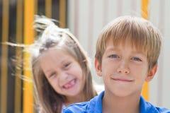 Cute little children friends Royalty Free Stock Photos
